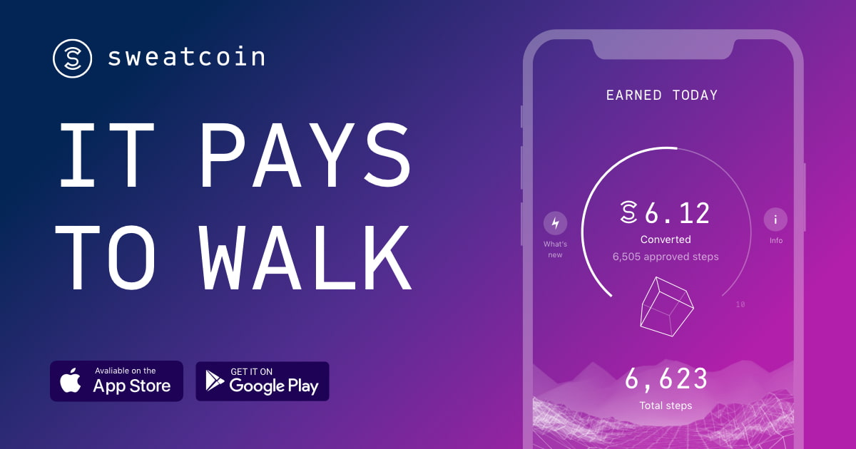 Sweatcoin — An app that rewards your steps- Best App to earn money